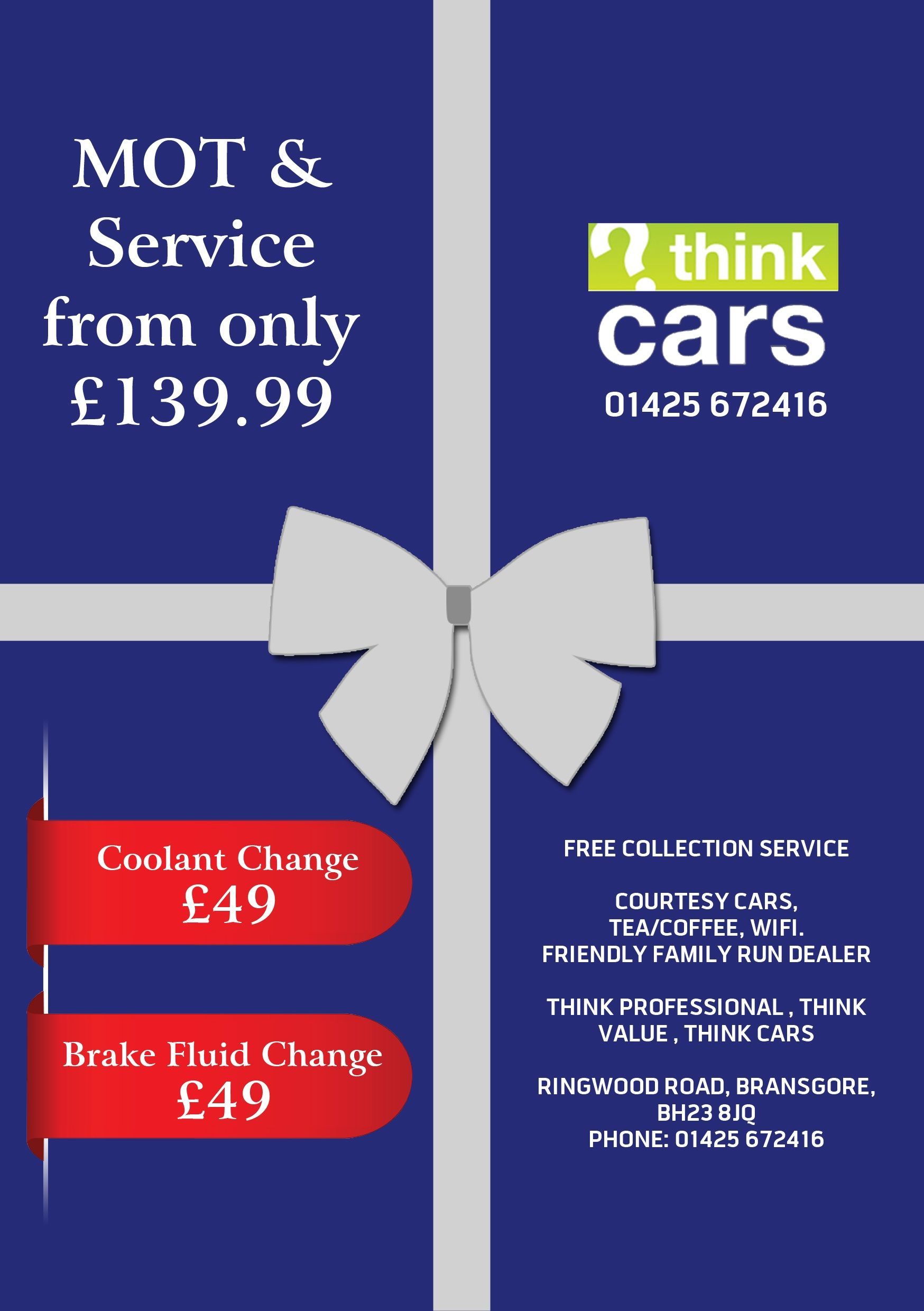 MOT & Service from only £139.99