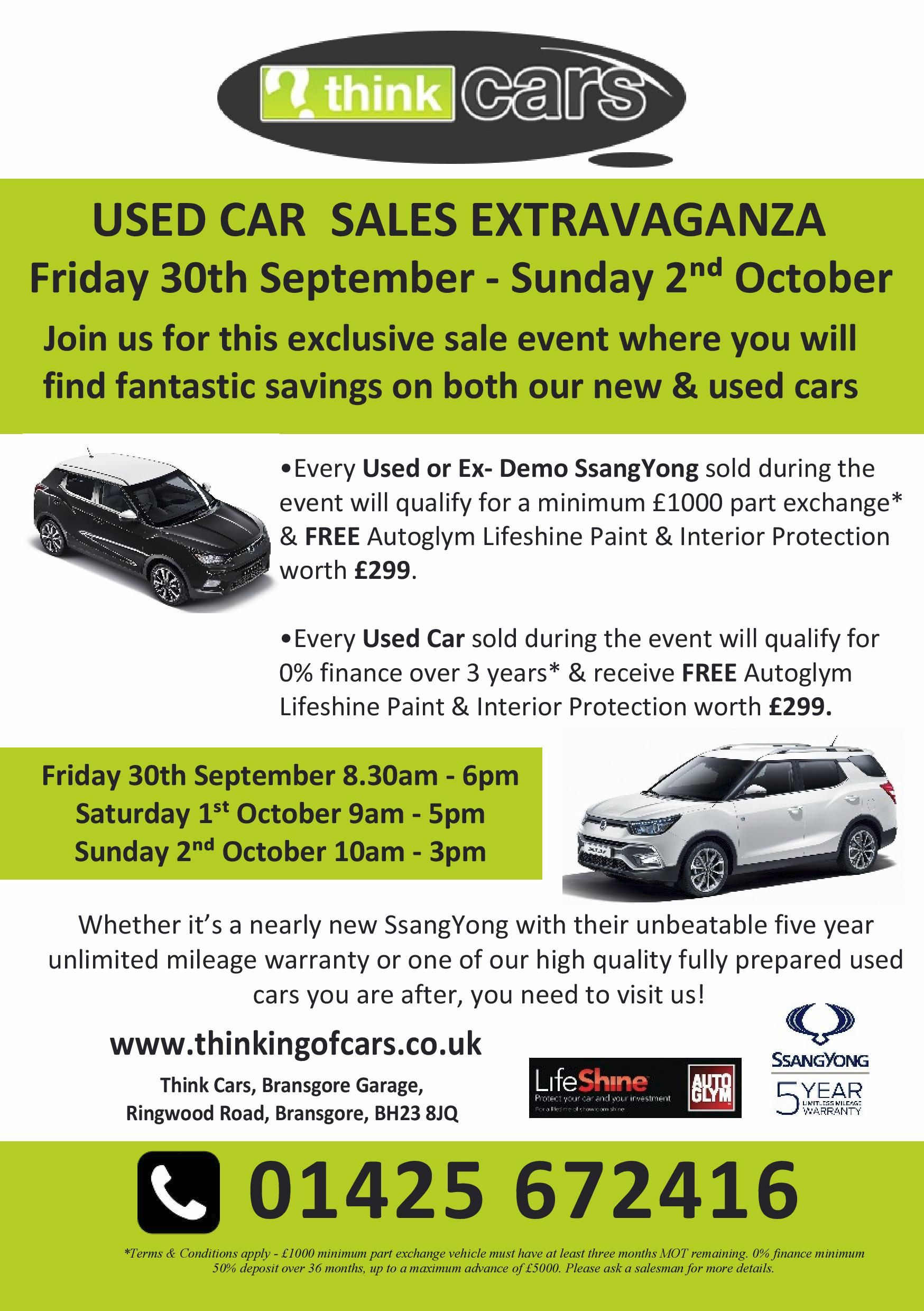 Think Cars Used Car Sales Extravaganza