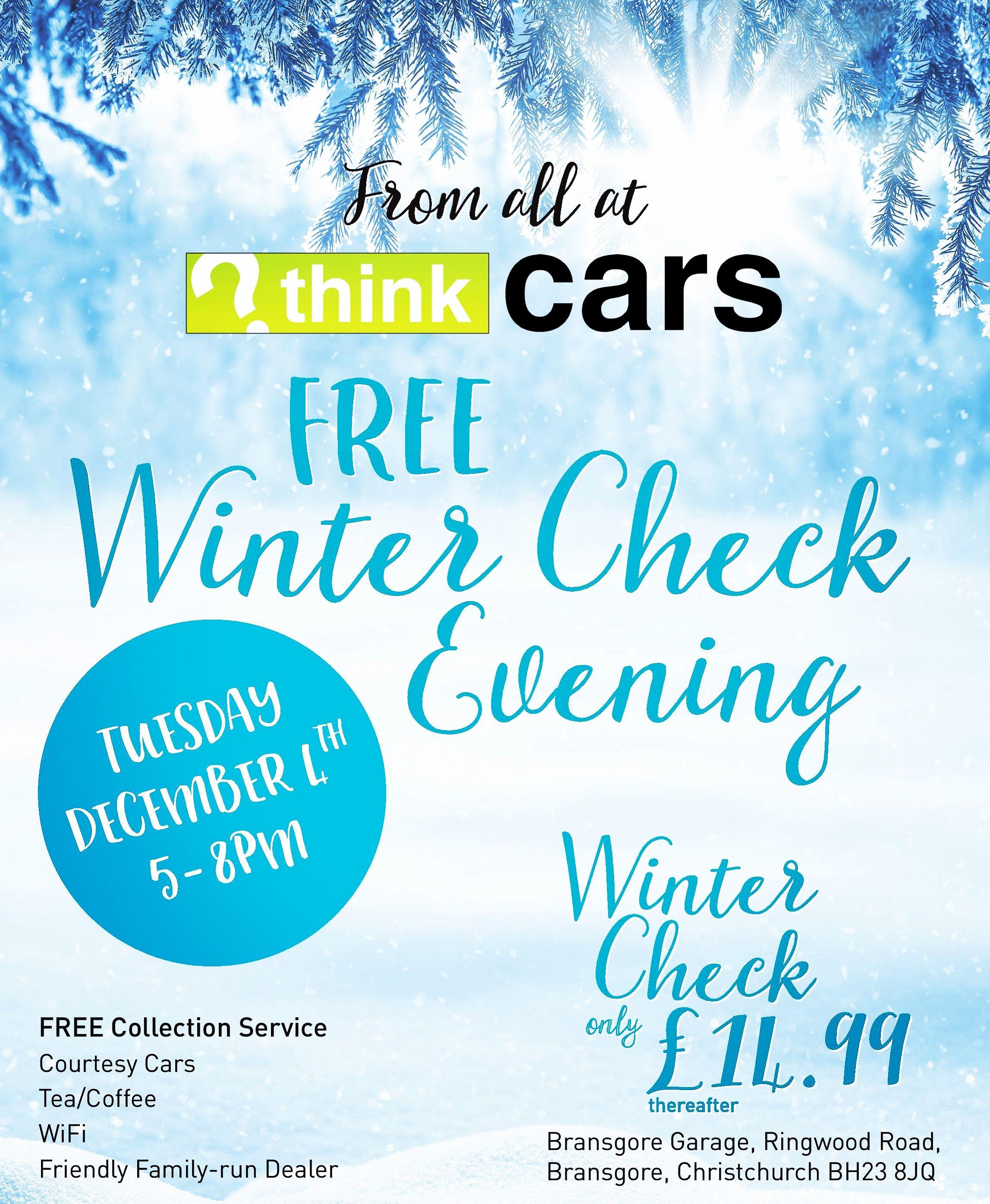 ❄️ Free Winter Check Evening at Think Cars! ❄️
