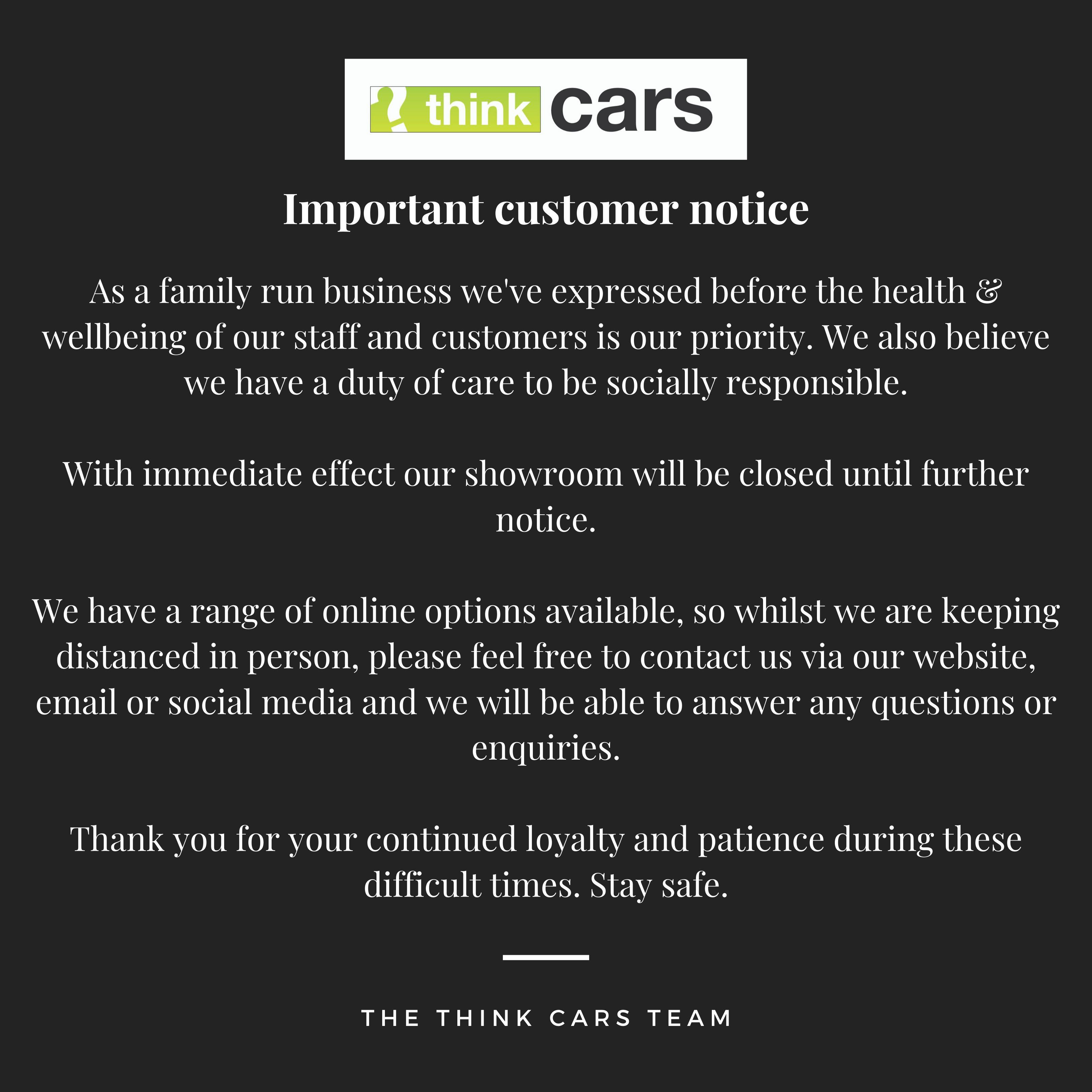 Important customer notice